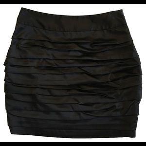 Express Ruched Satin Mini Skirt - Sz 00 NWT